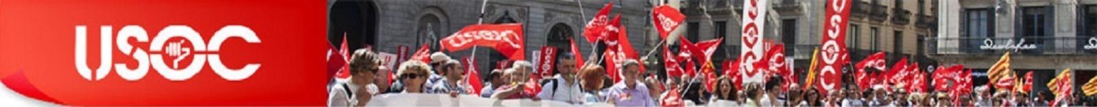 Banner capçalera USOC manifestació