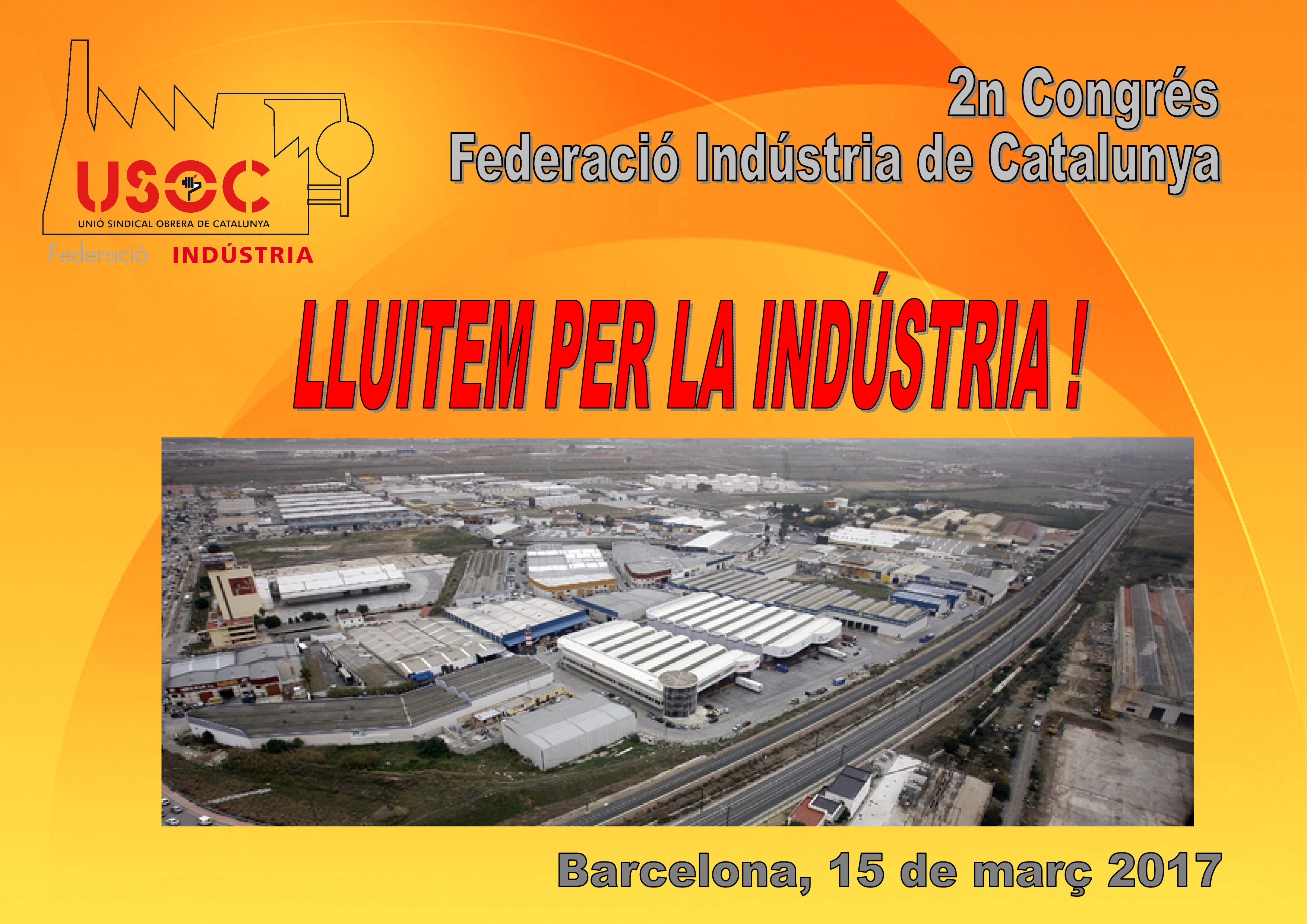 Cartell del 2n Congrés de la Federació d'Indústria USOC