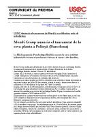 Comunicat de premsa Mondi Group