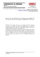 Comunicat de premsa reunió CCOO i USOC
