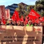 Concentració de Delegades i Delegats davant del Departament d'Ensenyament