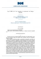LEY DE PREVENCIÓN RIESGOS LABORALES