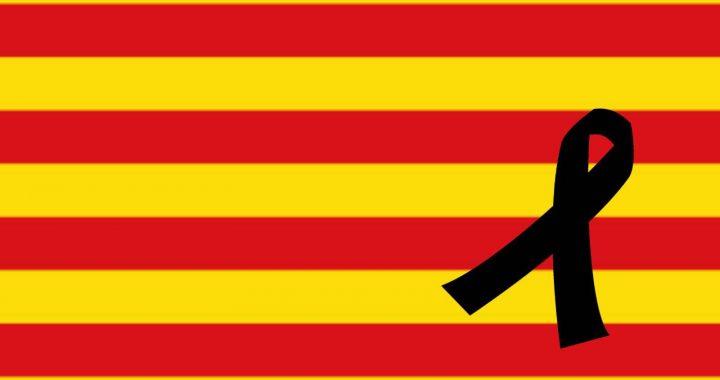 Senyera dol atemptat de Barcelona