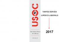 TARIFES 2017 SERVEIS JURÍDICS-LABORALS