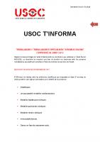USOC T'INFORMA Treballadors/es especialment sensibles a la Covid-19