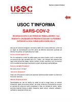 USOC T'INFORMA SARS-COV-2