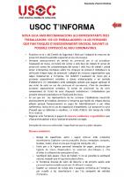 USOC T'INFORMA Guia Recomanacions Coronavirus