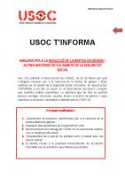 USOC T'INFORMA Reial Decret Llei 3/2021,