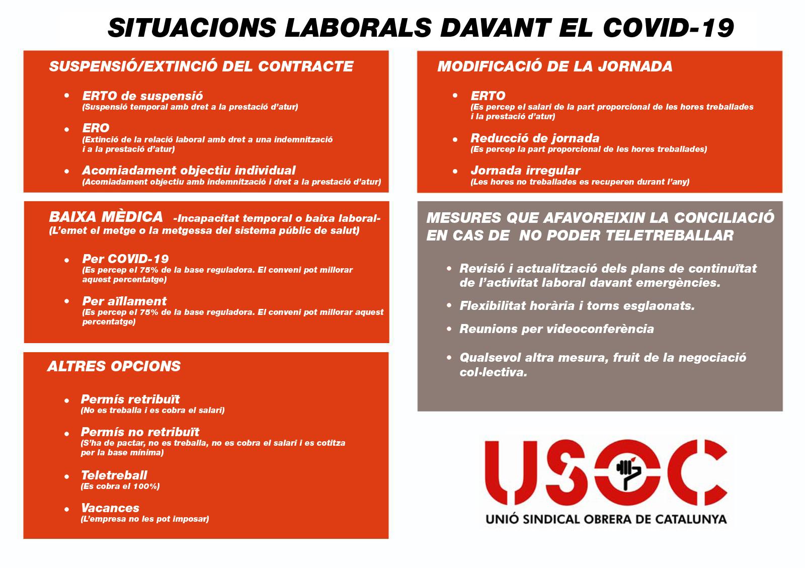 Situacions laborals davant el COVID-19