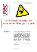 Els riscos psicosocials: uns enemics invisibles per la salut
