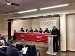 Mesa del Consell  iExposició del Secretari General de FEUSOC, Pere Forga