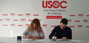 Signatura de conveni USOC - Institut Numància Formació
